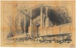 J.-P de Saint-Maurice et R. Lemaire, arch. 1937. Exposition internationale des Arts et des Techniques de Paris. Pavillon Photo-Ciné-Phono : pers. de la façade principale, n.d. (6 avril 1936 : réception du document).
